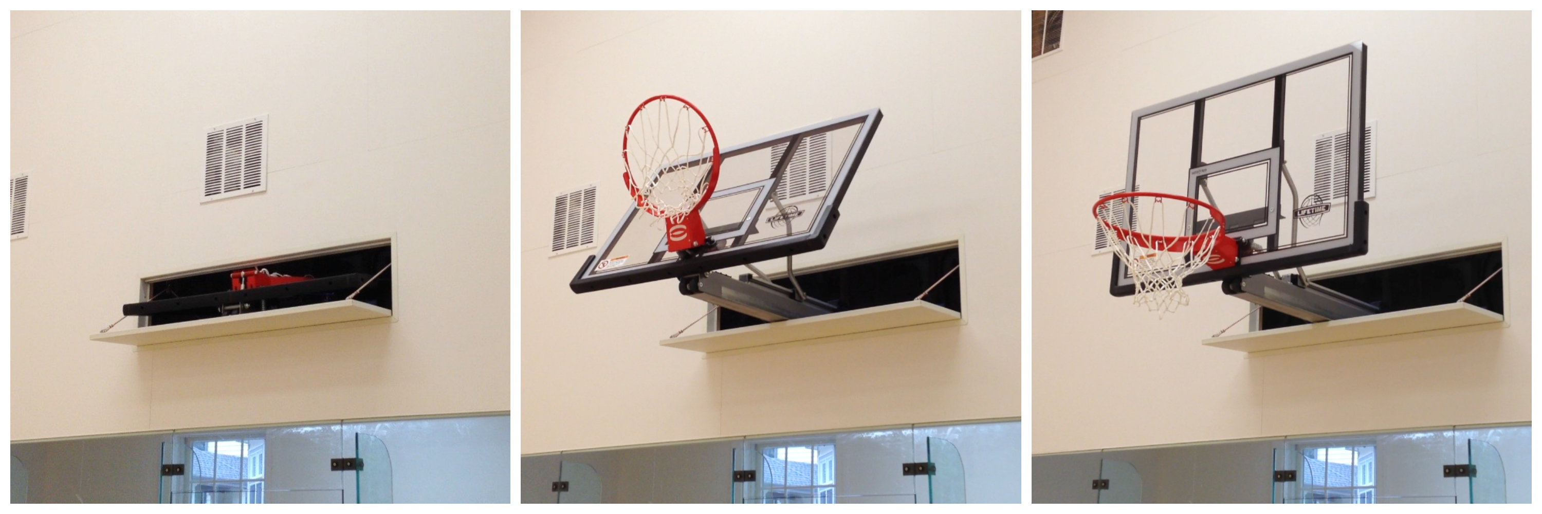 auto hop retractable basketball backboard