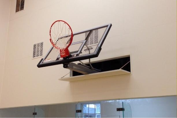 auto hoop retractable basketball backboard